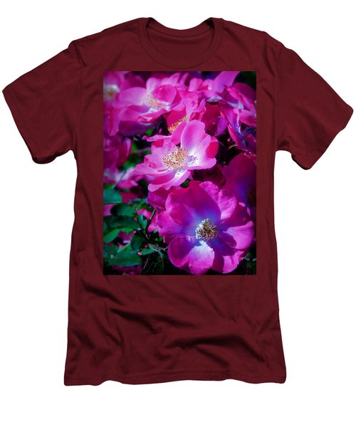 Glorious Blooms Men's T-Shirt (Slim Fit) by Lucinda Walter
