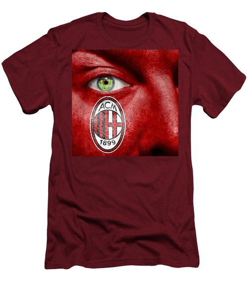 Go Ac Milan Men's T-Shirt (Slim Fit) by Semmick Photo