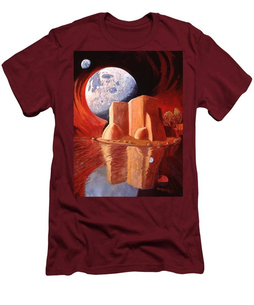 Men's T-Shirt (Slim Fit) featuring the painting God Is In The Moon by Art James West