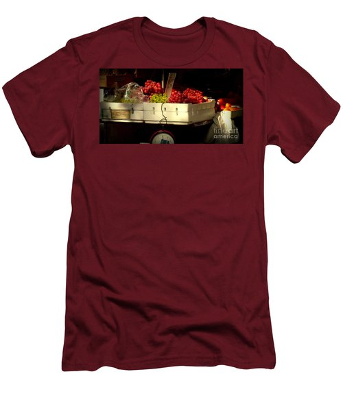 Grapes With Weighing Scale Men's T-Shirt (Athletic Fit)