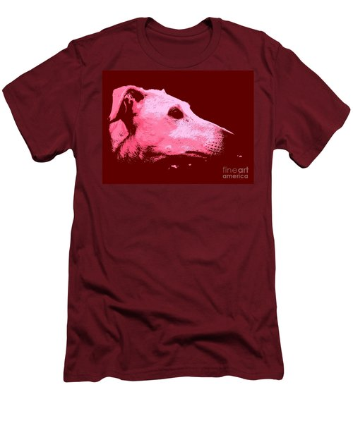 Men's T-Shirt (Slim Fit) featuring the photograph Greyhound Profile by Clare Bevan