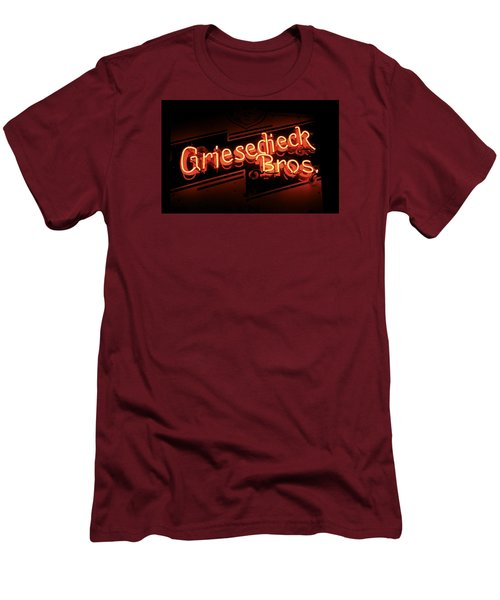 Griesedieck Brothers Beer Neon Sign Men's T-Shirt (Slim Fit) by Jane Eleanor Nicholas
