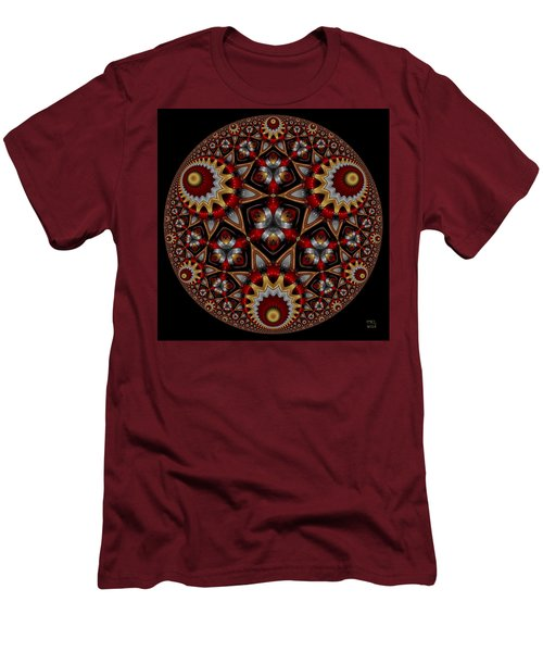 Men's T-Shirt (Slim Fit) featuring the digital art Harmonia by Manny Lorenzo