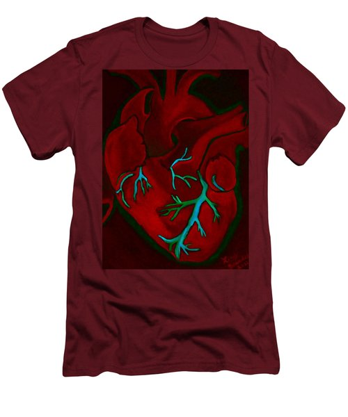 Have A Heart Light 2 Dark Version Men's T-Shirt (Slim Fit) by Lisa Brandel