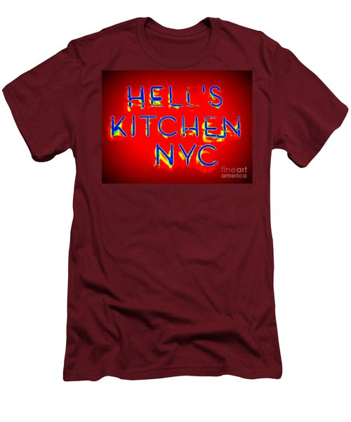 Hell's Kitchen Nyc Men's T-Shirt (Slim Fit) by Ed Weidman