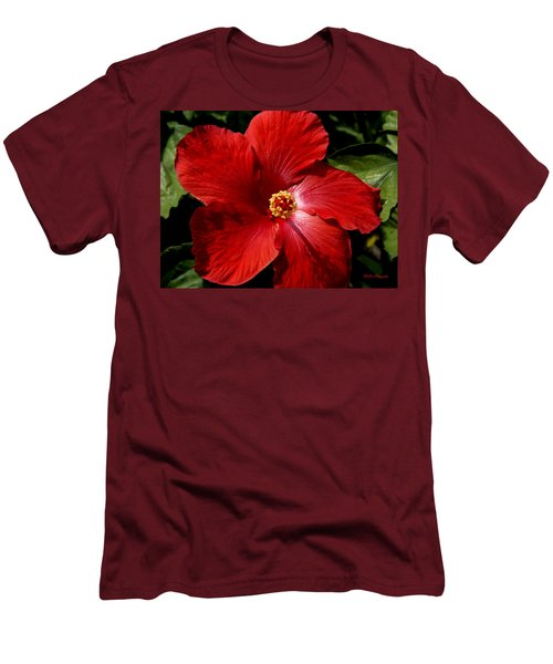 Hibiscus Landscape Men's T-Shirt (Athletic Fit)