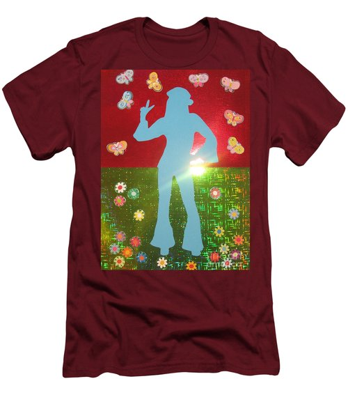 Hippie Girl Men's T-Shirt (Athletic Fit)