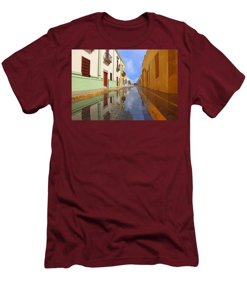 Men's T-Shirt (Slim Fit) featuring the photograph Historic Campeche Mexico  by Susan Rovira