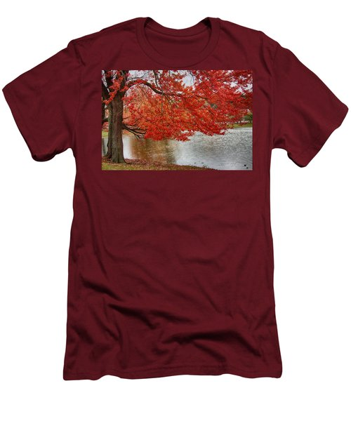 Men's T-Shirt (Slim Fit) featuring the photograph Holding Our Bright Red Joy by Jeff Folger