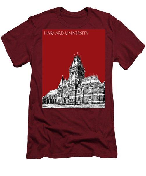 Harvard University - Memorial Hall - Dark Red Men's T-Shirt (Athletic Fit)