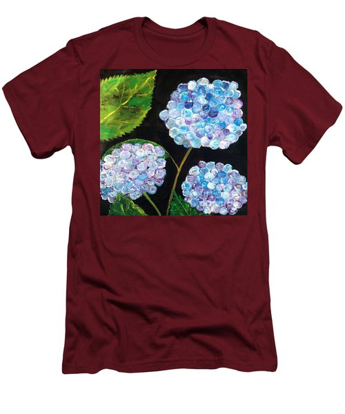 Hydrangeas  Men's T-Shirt (Slim Fit) by Reina Resto