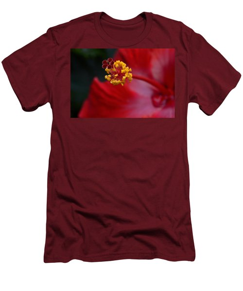 Men's T-Shirt (Slim Fit) featuring the photograph In Red by Larry Bishop