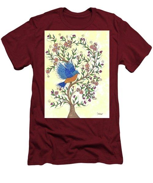 In The Garden - Bluebird Men's T-Shirt (Slim Fit) by Susie WEBER