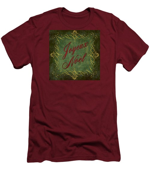 Joyeux Noel In Green And Red Men's T-Shirt (Athletic Fit)