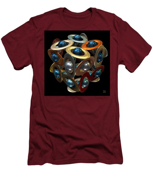Men's T-Shirt (Slim Fit) featuring the digital art Kepler's Dream by Manny Lorenzo