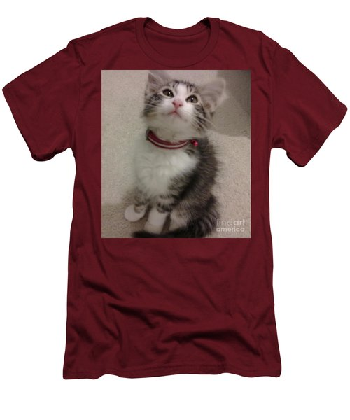 Kitty - Forgotten Innocence Men's T-Shirt (Slim Fit) by Barbara Yearty