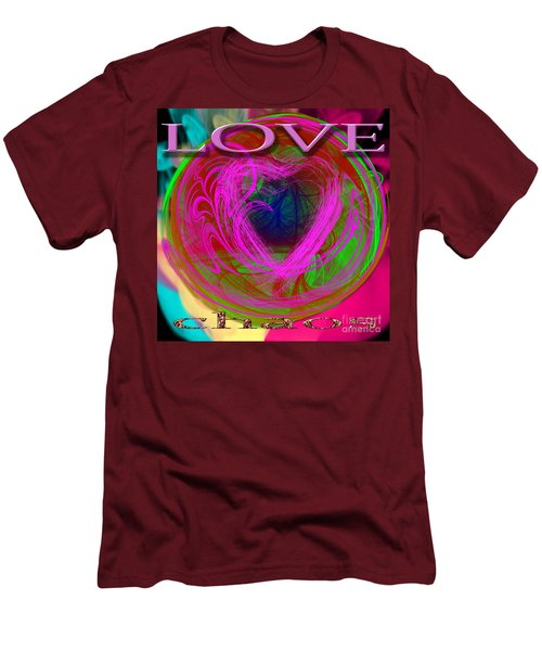 Men's T-Shirt (Athletic Fit) featuring the digital art Love Over Chaos by Clayton Bruster