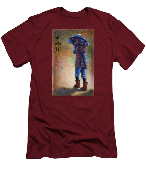 Lucky Red Boots Men's T-Shirt (Slim Fit) by Retta Stephenson