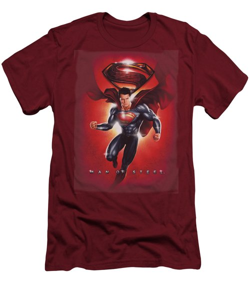 Man Of Steel - Title Men's T-Shirt (Athletic Fit)