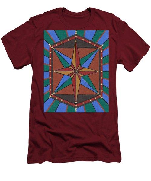 Mariner Rose Men's T-Shirt (Slim Fit) by Barbara St Jean