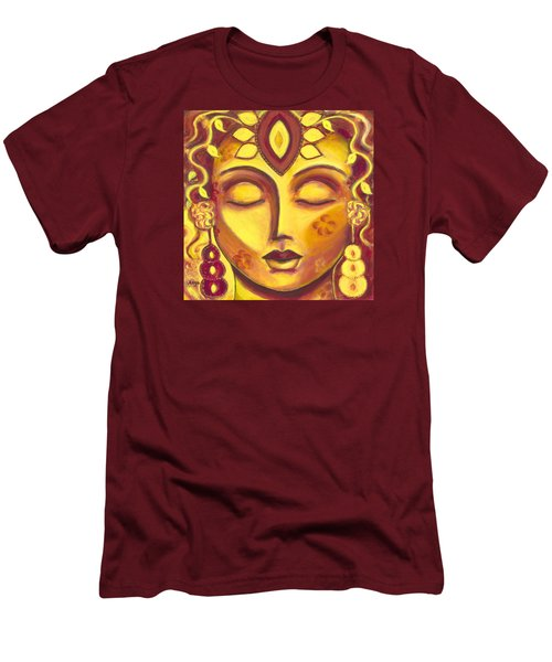 Men's T-Shirt (Slim Fit) featuring the painting Mining Your Jewels by Anya Heller