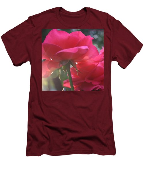 Natural Beauty Ladybird Red Rose Men's T-Shirt (Athletic Fit)