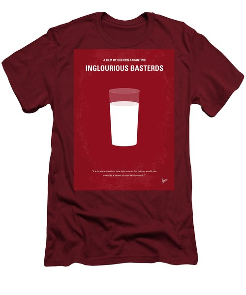 No138 My Inglourious Basterds Minimal Movie Poster Men's T-Shirt (Slim Fit) by Chungkong Art