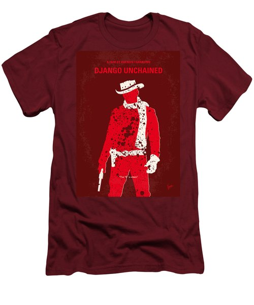 No184 My Django Unchained Minimal Movie Poster Men's T-Shirt (Slim Fit) by Chungkong Art