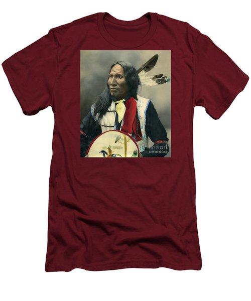 Oglala Chief Strikes With Nose 1899 Men's T-Shirt (Athletic Fit)