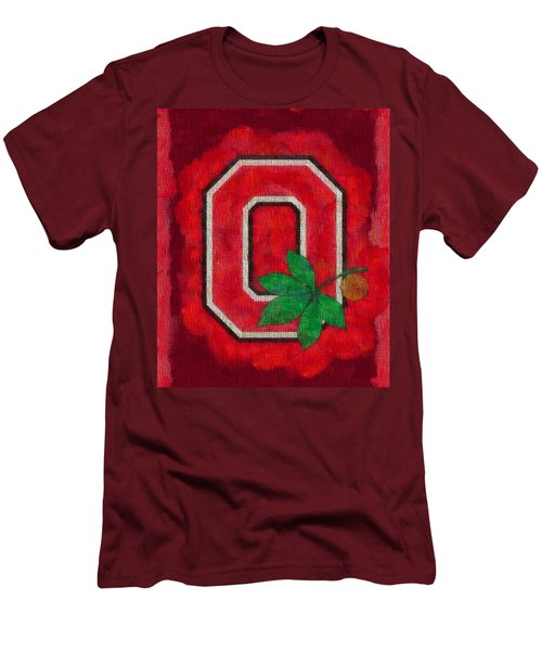 Ohio State Buckeyes On Canvas Men's T-Shirt (Slim Fit) by Dan Sproul