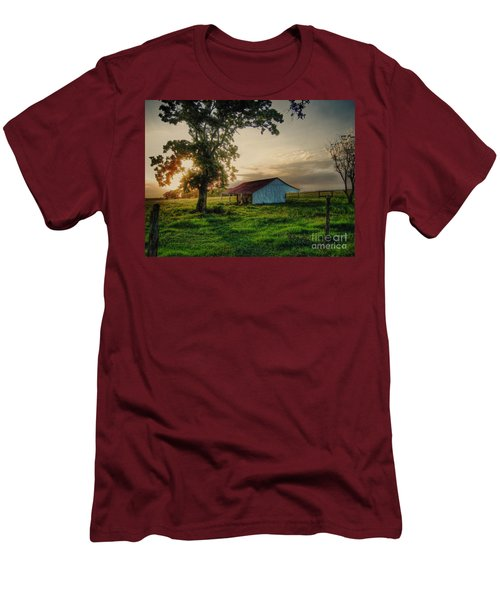 Men's T-Shirt (Slim Fit) featuring the photograph Old Shed by Savannah Gibbs