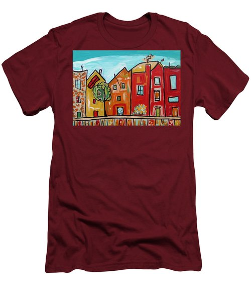 One House Has A Screen Door Men's T-Shirt (Slim Fit) by Mary Carol Williams