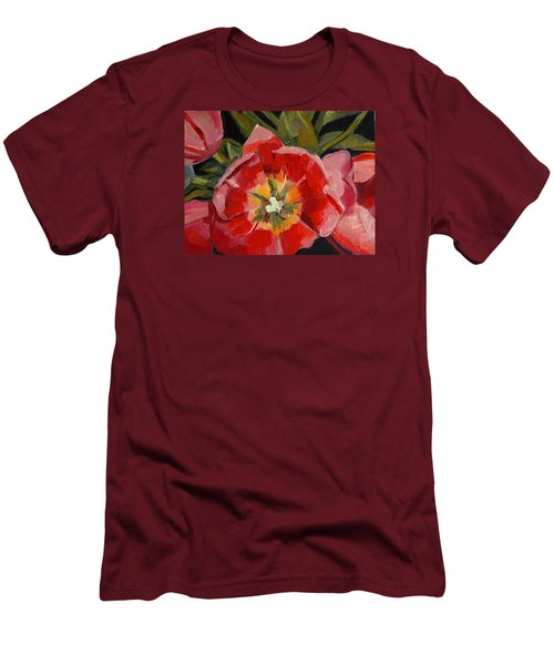 Men's T-Shirt (Slim Fit) featuring the painting Opening by Pattie Wall