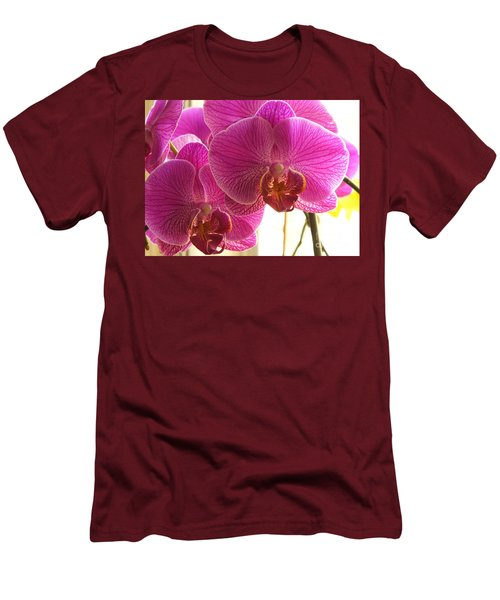 Men's T-Shirt (Slim Fit) featuring the photograph Orchid by Lingfai Leung