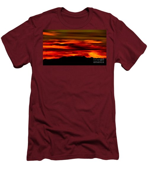Men's T-Shirt (Slim Fit) featuring the photograph Painted Sky 34 by Mark Myhaver