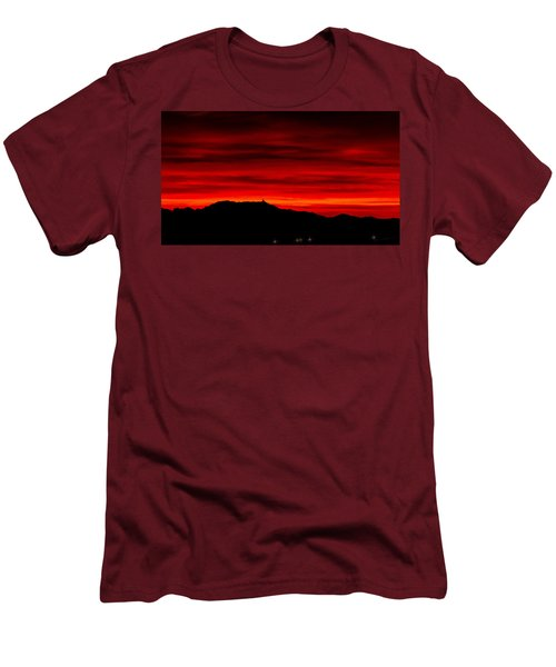 Men's T-Shirt (Slim Fit) featuring the photograph Painted Sky 36 by Mark Myhaver