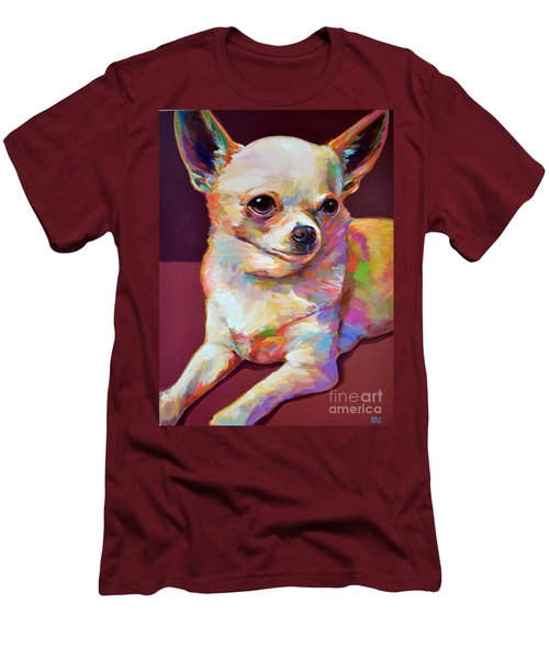 Men's T-Shirt (Slim Fit) featuring the painting Pedro by Robert Phelps