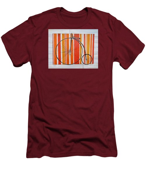 Penny-farthing Men's T-Shirt (Slim Fit) by Marilyn  McNish