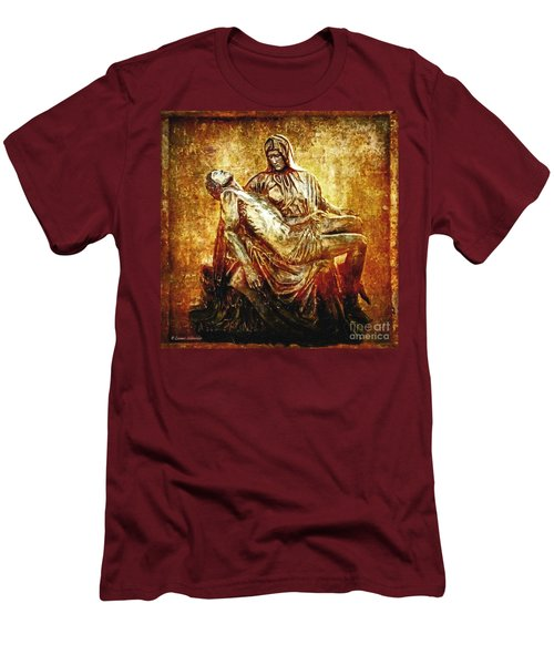 Pieta Via Dolorosa 13 Men's T-Shirt (Athletic Fit)