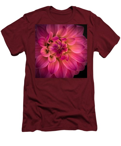 Pink Dahlia Men's T-Shirt (Athletic Fit)
