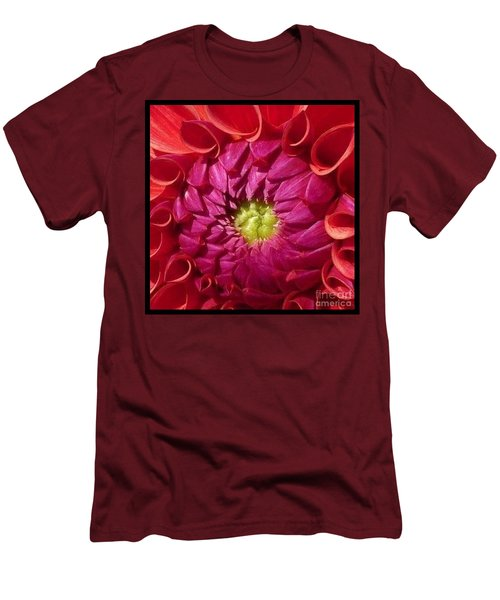 Pink Dahlia Variation Men's T-Shirt (Slim Fit) by Susan Garren