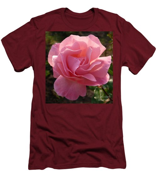 Pink Rose Men's T-Shirt (Slim Fit) by Phil Banks