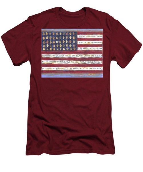 Pledge Flag Men's T-Shirt (Athletic Fit)