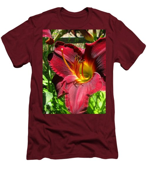 Men's T-Shirt (Slim Fit) featuring the photograph Pretty As A Picture by Brooks Garten Hauschild