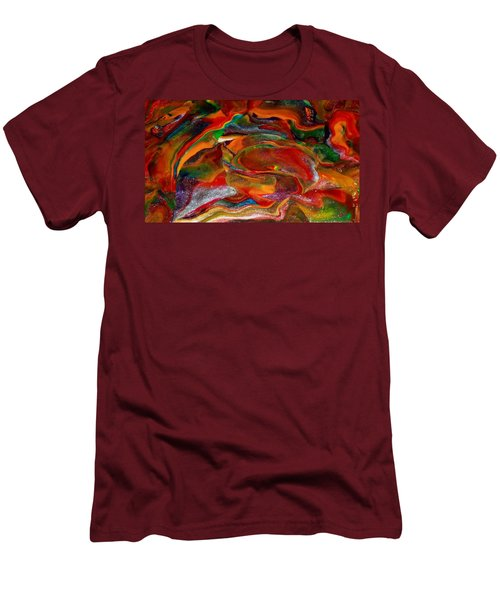 Rainbow Blossom Men's T-Shirt (Athletic Fit)