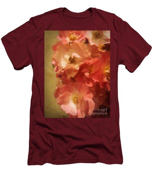 Men's T-Shirt (Slim Fit) featuring the digital art Ramblin Rose Memories by Lianne Schneider