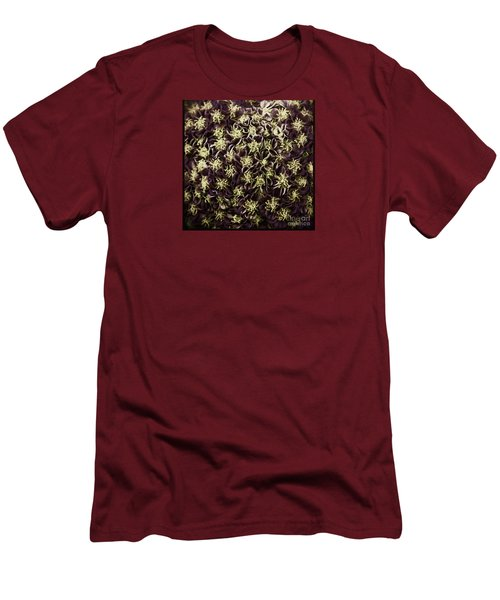 Men's T-Shirt (Slim Fit) featuring the photograph Raspberry Circles by Jean OKeeffe Macro Abundance Art