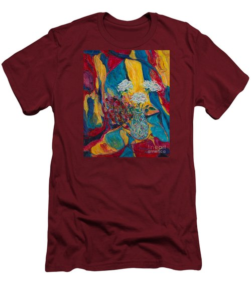Red Blue Yellow Men's T-Shirt (Slim Fit) by Anna Yurasovsky