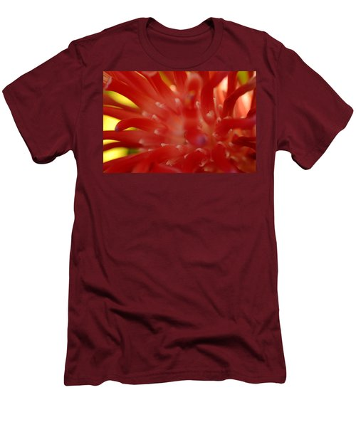 Men's T-Shirt (Slim Fit) featuring the photograph Red Bromeliad by Greg Allore