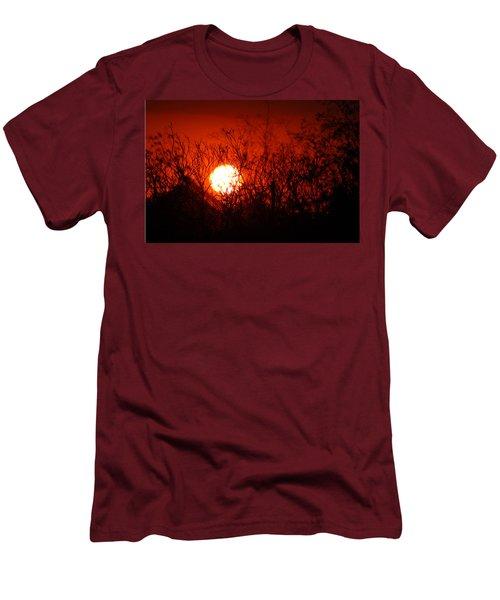Redorange Sunset Men's T-Shirt (Slim Fit) by Matt Harang